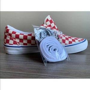 163021b467b Vans Shoes - Vans Men s Era Pro Checkerboard Rococo Red